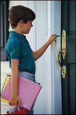 home security and latchkey kids