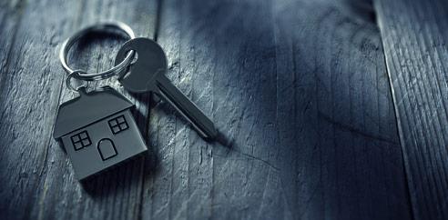 key on house keychain
