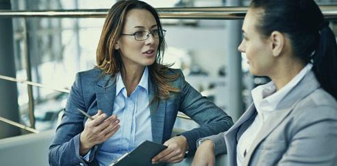 professional women having discussion