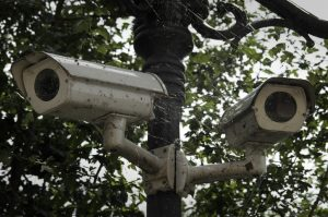 Two Security Cameras (dirty and cobwebs)