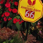emergency response locator yard sign with house number