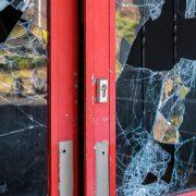 Broken door window, Business Security Tips